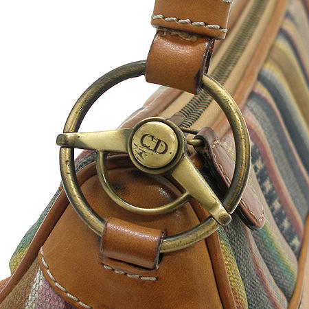 Dior(크리스챤디올) 스트라이프 패턴 패브릭 로고 장식 숄더백