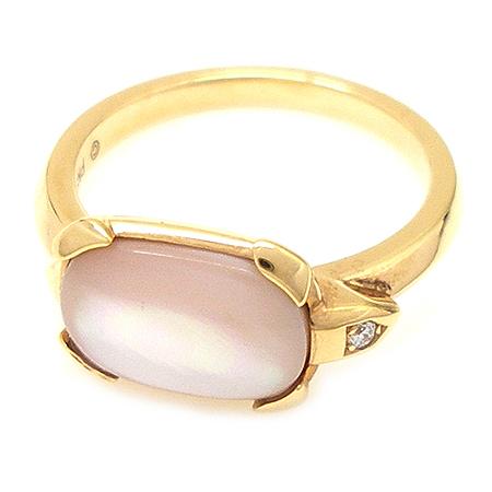 Cartier(까르띠에) B4089248 18K(750) 핑크 골드 1포인트 다이아  자개 장식 (TORTUE) 또띠 반지 이미지3 - 고이비토 중고명품