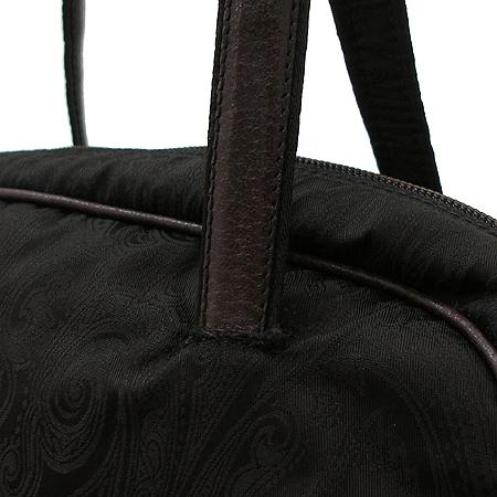 Etro(에트로) 다크 브라운 패브릭 사선 무늬 볼링 토트백 [강남본점] 이미지3 - 고이비토 중고명품
