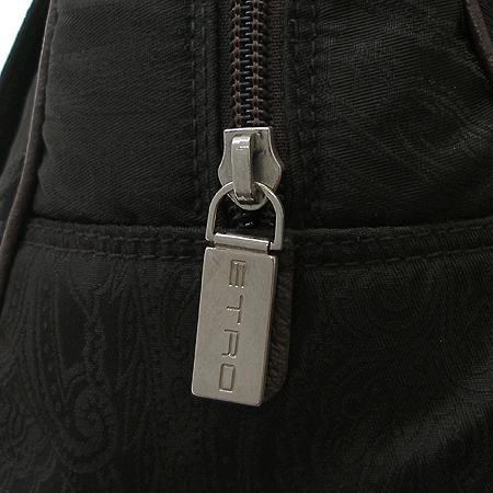 Etro(에트로) 다크 브라운 패브릭 사선 무늬 볼링 토트백 [강남본점] 이미지4 - 고이비토 중고명품