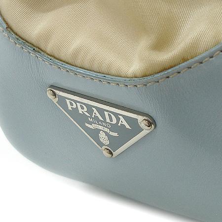 Prada(프라다) 패브릭 래더 트리밍 벨트 장식 토트 겸 숄더백