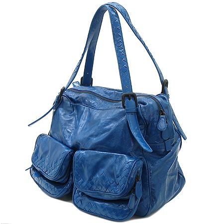 BOTTEGAVENETA (보테가베네타) 248521 투포켓 블루 컬러 페이던트 숄더백 이미지3 - 고이비토 중고명품