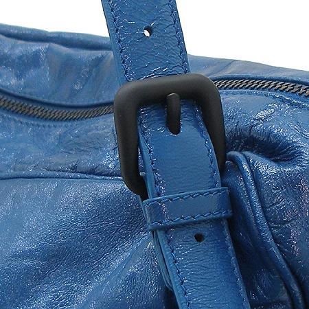 BOTTEGAVENETA (보테가베네타) 248521 투포켓 블루 컬러 페이던트 숄더백