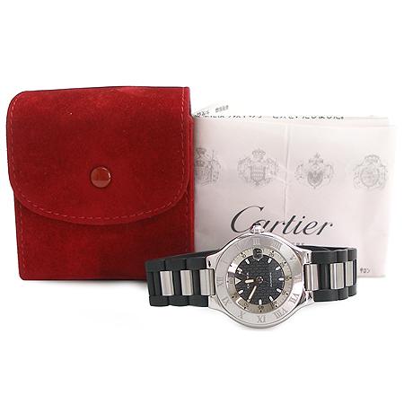 Cartier(��쿡) W10147U2 MUST21 AUTOSCAPH ������� ��� ��Ŭ ������ �ð�