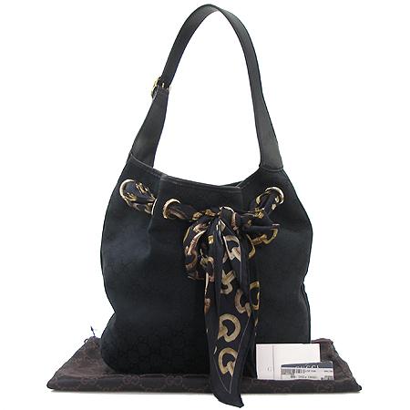Gucci(구찌) 155563 GG 로고 자갸드 스카프 장식 숄더백 이미지2 - 고이비토 중고명품