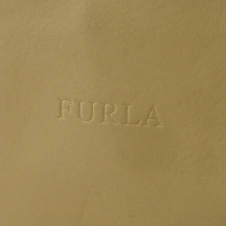 FURLA(훌라) 베이지 래더 은장 로고 장식 숄더백
