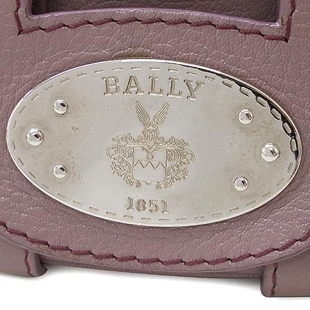 Bally(발리) LUCKY B 퍼플 래더 은장 로고 장식 숄더백
