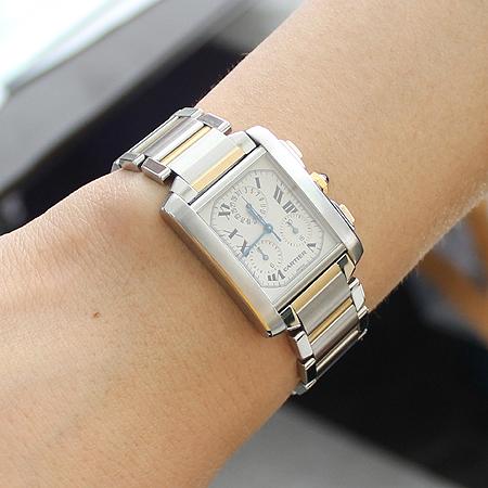 Cartier(까르띠에) 탱크 콤비 크로노 그래프 남성용 시계
