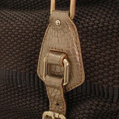 COLOMBO(콜롬보) 브라운 위빙 골드 메탈릭 크로커다일 2WAY