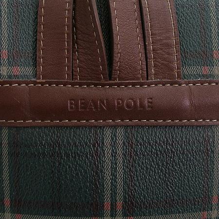 Bean Pole(빈폴) 체크 PVC 장식 백팩