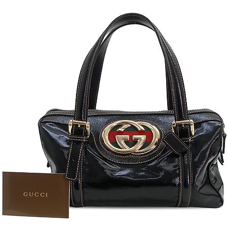 Gucci(구찌) 170009 금장 GG 로고 장식 에나멜 보스톤 토트백