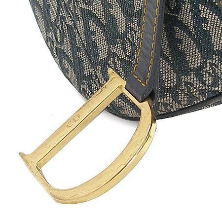 Dior(크리스챤디올) RU0053 디올 로고 자가드천 새들 숄더백