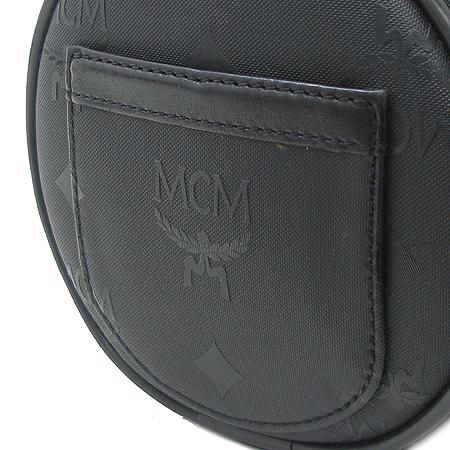 MCM(엠씨엠) 블랙 패브릭 원통 토트백
