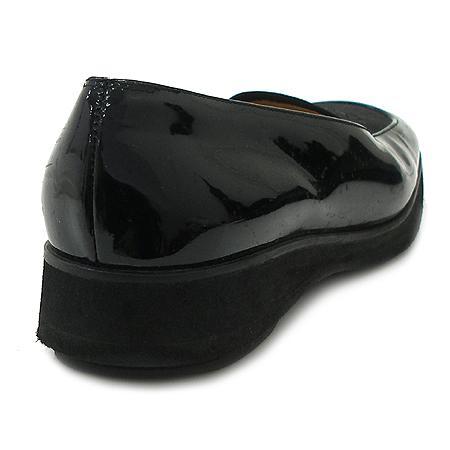 Ferragamo(페라가모) 간치니 로고 블랙 페이던트 여성용 구두