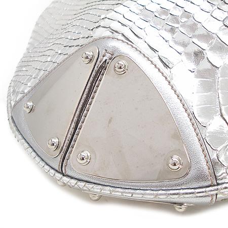 Gucci(구찌) 177088 실버 메탈릭 파이손 래더 인디백 2WAY