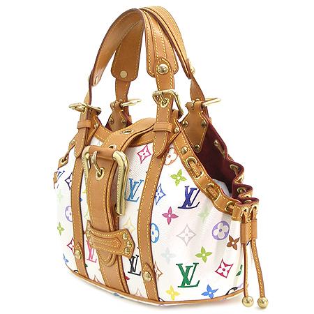 Louis Vuitton(루이비통) M92437 모노그램 멀티 컬러 화이트 떼다 GM 토트백