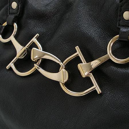 Gucci(구찌) 189890 럭셔리 홀스빗 블랙 래더 금장로고 토트겸 숄더백
