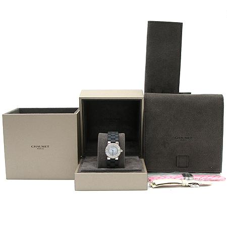 CHAUMET(쇼메) W06203 -094 CLASS ONE (클래스원) 베젤 다이아 장식 자개판 러버 밴드 DD 클립 여성용 시계