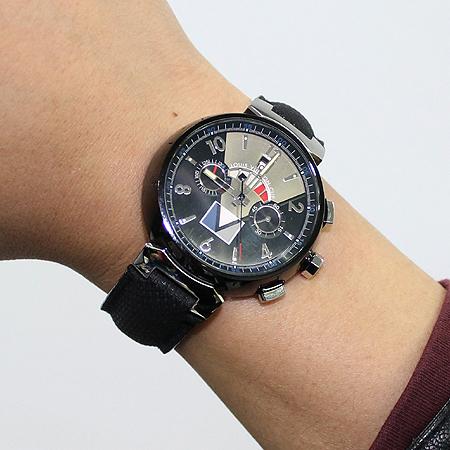 Louis Vuitton(루이비통) Q102G1 땅부르 LV컵 레가타 블랙 남성용 시계 이미지6 - 고이비토 중고명품