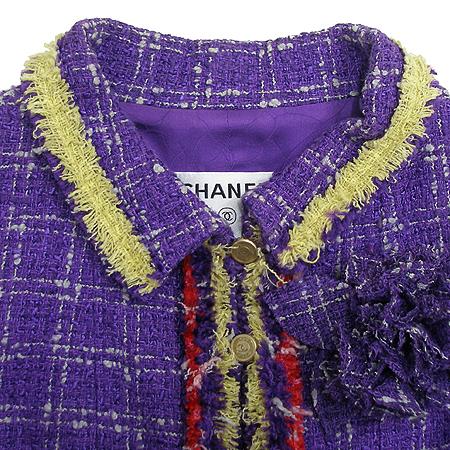 Chanel(샤넬) 트위드 자켓 + 코사지 (실크혼방)
