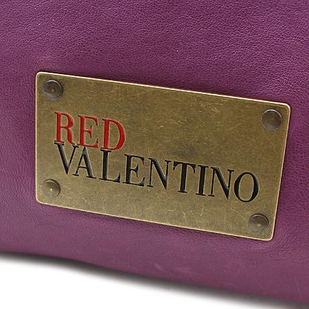 VALENTINO(발렌티노) 레드 발렌티노 퍼플 래더 토트백 + 보조 파우치