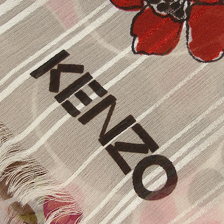 Kenzo(겐죠) 100% 실크 스카프