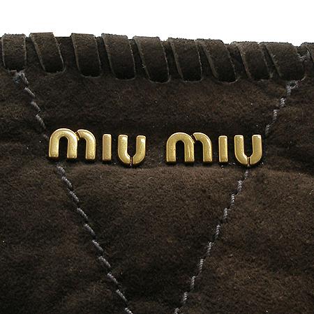 MiuMiu(미우미우) 스웨이드 퀼팅 술장식 숄더백