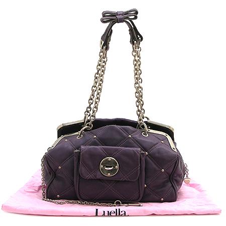 LUELLA(루엘라) 원포캣 퀼팅 램스킨 체인 숄더백