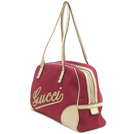 Gucci(구찌) 169973 로고 패브릭 보스톤 숄더백