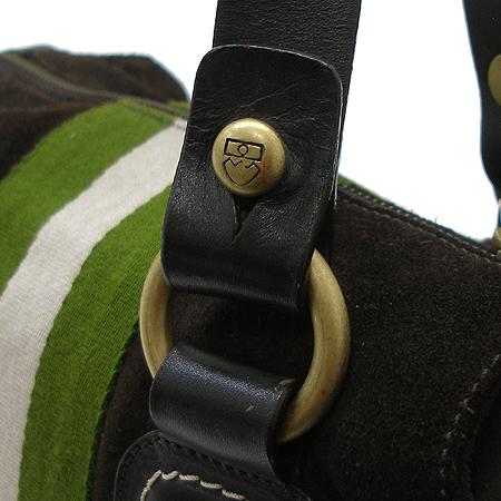 Bally(발리) TRIRA 로고 삼선 스티치 브라운 스웨이드 래더 파이핑 토트백 이미지3 - 고이비토 중고명품