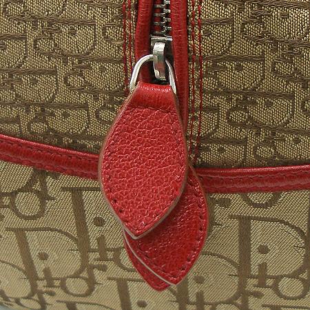 Dior(크리스챤디올) 로고 자가드 삼색 스티치 볼링 토트백