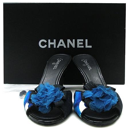 Chanel(샤넬) 까멜리아 장식 여성용샌들