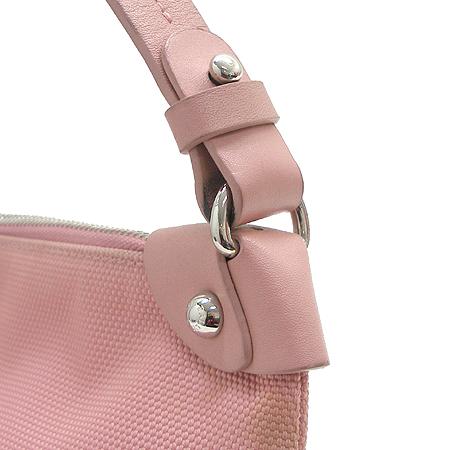 Bally(발리) CASHMIA 로고 삼선 스티치 핑크 패브릭 래더 스티치 숄더백 [강남본점]