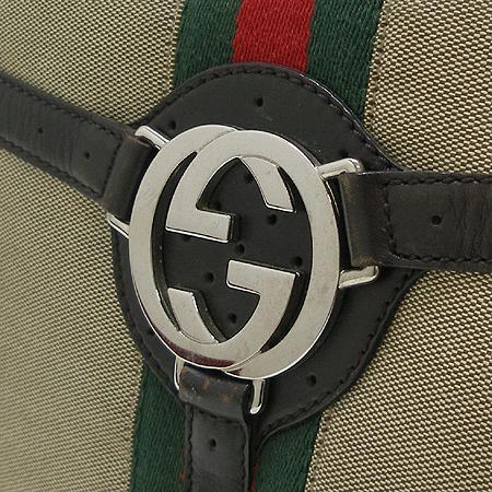 Gucci(구찌) 114871 GG 은장 로고 장식 삼색 스티치 숄더백