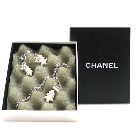 Chanel(샤넬) COCO로고 트리장식 목걸이 + 귀걸이 셋트
