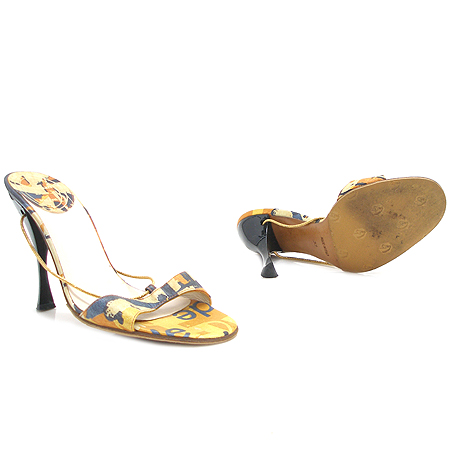 Dior(크리스챤디올) 금장 체인 장식 오픈토 여성용 샌들