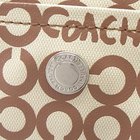 Coach(코치) 옵아트 로고 원포켓 PVC 2WAY