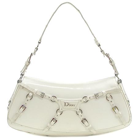Dior(크리스챤디올) 은장 로고 장식 에나멜 파우치 겸 숄더백