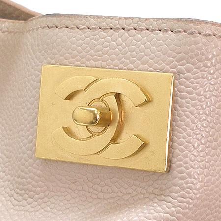 Chanel(샤넬) 금장 COCO로고 캐비어 스킨 금장 체인 숄더백