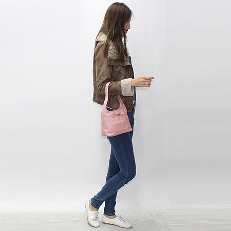 FURLA(훌라) 핑크 리본 레더 숄더백