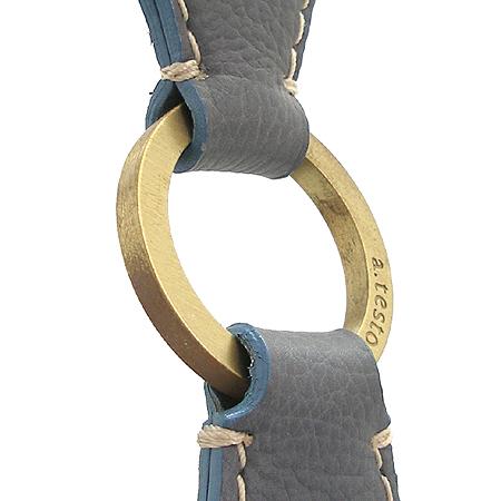 A.testoni(테스토니) 금장 로고 장식 래더 스티치 테슬 장식 숄더백 이미지3 - 고이비토 중고명품