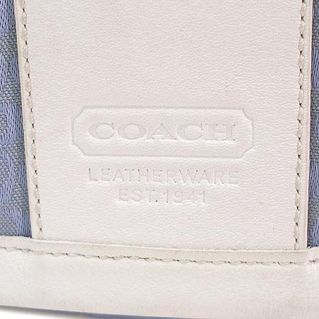Coach(코치) 로고 패턴 패브릭 래더 트리밍 크로스백