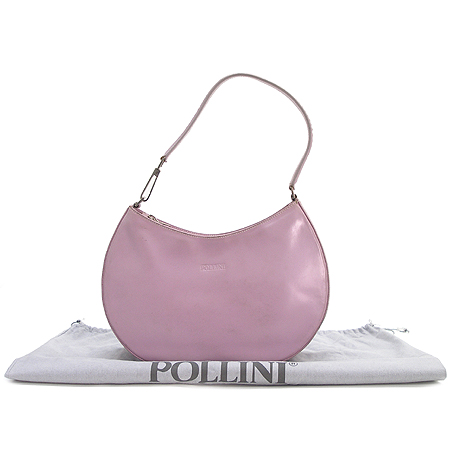 Pollini(폴리니) 퍼플 레더 숄더백