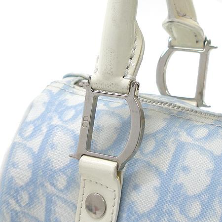 Dior(크리스챤디올) 로고 패턴 PVC 에나멜 트리밍 보스턴 토트백