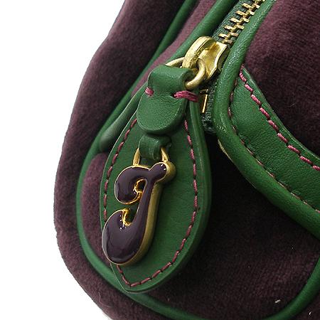JUICY COUTURE(쥬시꾸띄르) 금장 로고 장식 퍼플 스웨이드 토트백