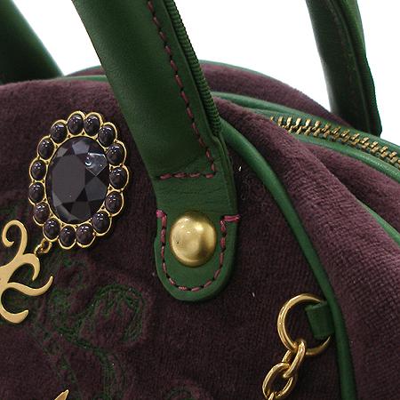 JUICY COUTURE(쥬시꾸띄르) 금장 로고 장식 퍼플 스웨이드 토트백 이미지4 - 고이비토 중고명품