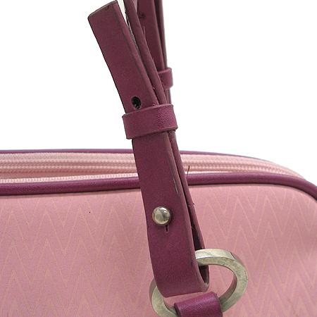 Missoni(미소니) 핑크 패브릭 더블짚 오픈 패브릭 숄더백