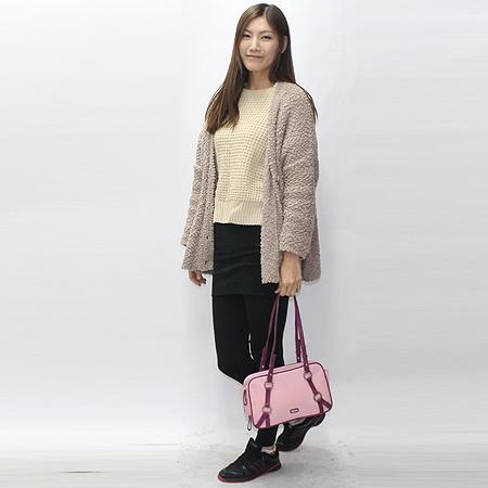 Missoni(미소니) 핑크 패브릭 더블짚 오픈 패브릭 숄더백 [강남본점] 이미지6 - 고이비토 중고명품