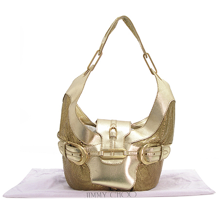 JIMMY CHOO(지미추) TALIA 골드 메탈릭 금속 컬렉션 라인 숄더백