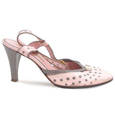 Chanel(샤넬) 핑크 컬러 커스텀 펄 장식 여성용 샌들